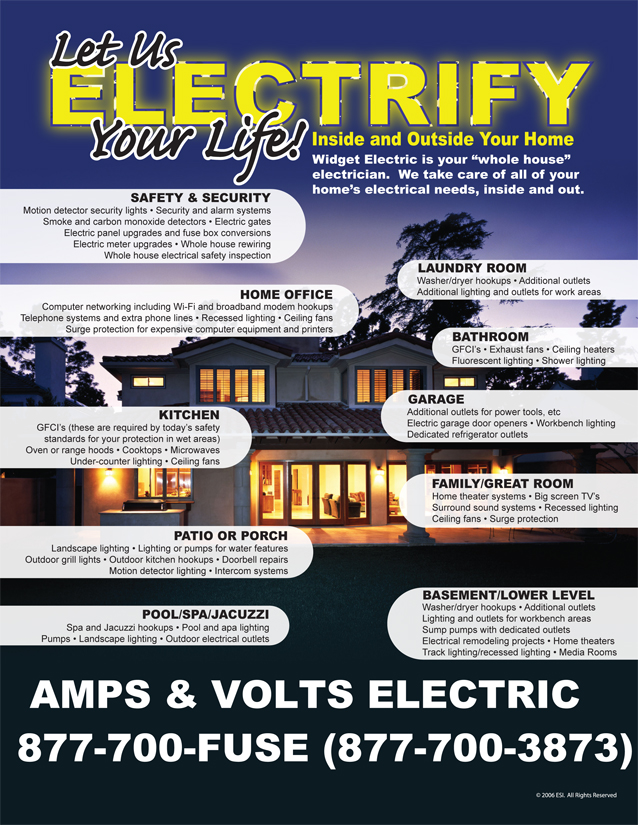 some services residential electrical services amps & volts electric